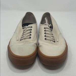 Vans Men's White & Brown Sneakers Size 10.5 A117